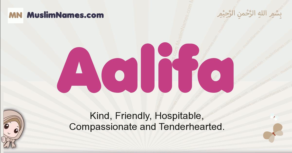 aalifa muslim girls name and meaning, islamic girls name aalifa