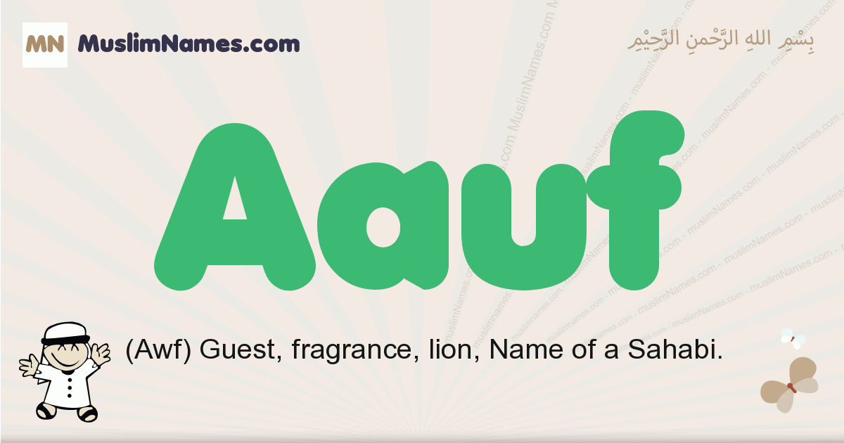 Aauf muslim boys name and meaning, islamic boys name Aauf