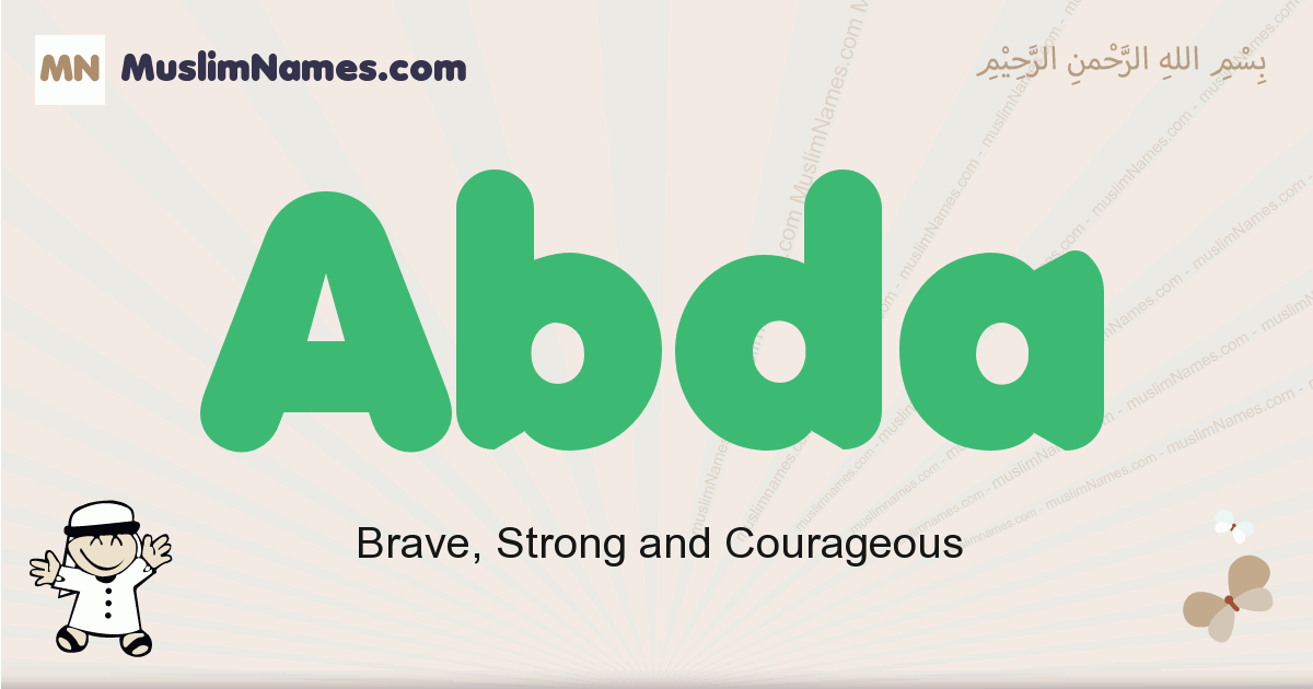 Abda muslim boys name and meaning, islamic boys name Abda