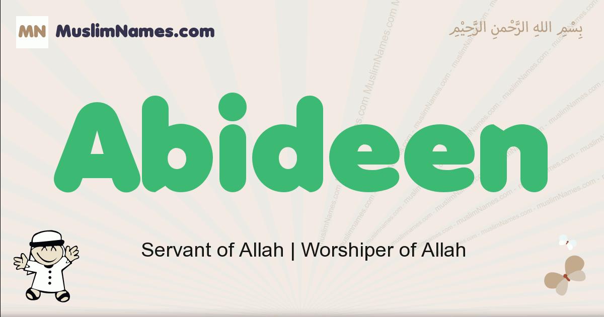 abideen muslim boys name and meaning, islamic boys name abideen