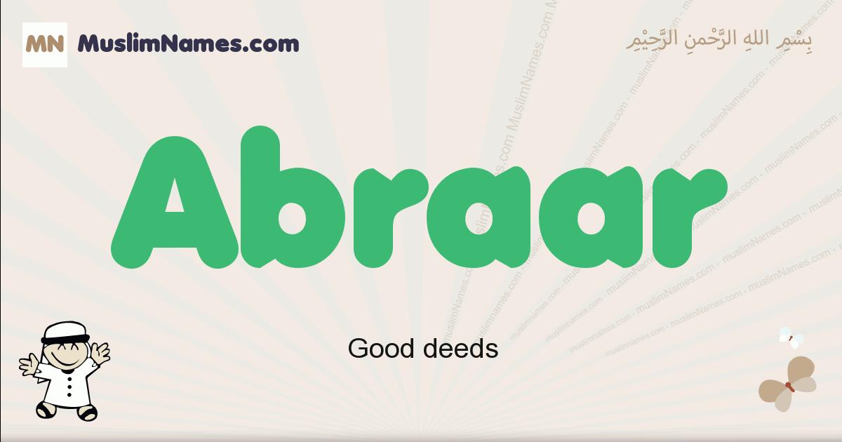 Abraar muslim boys name and meaning, islamic boys name Abraar