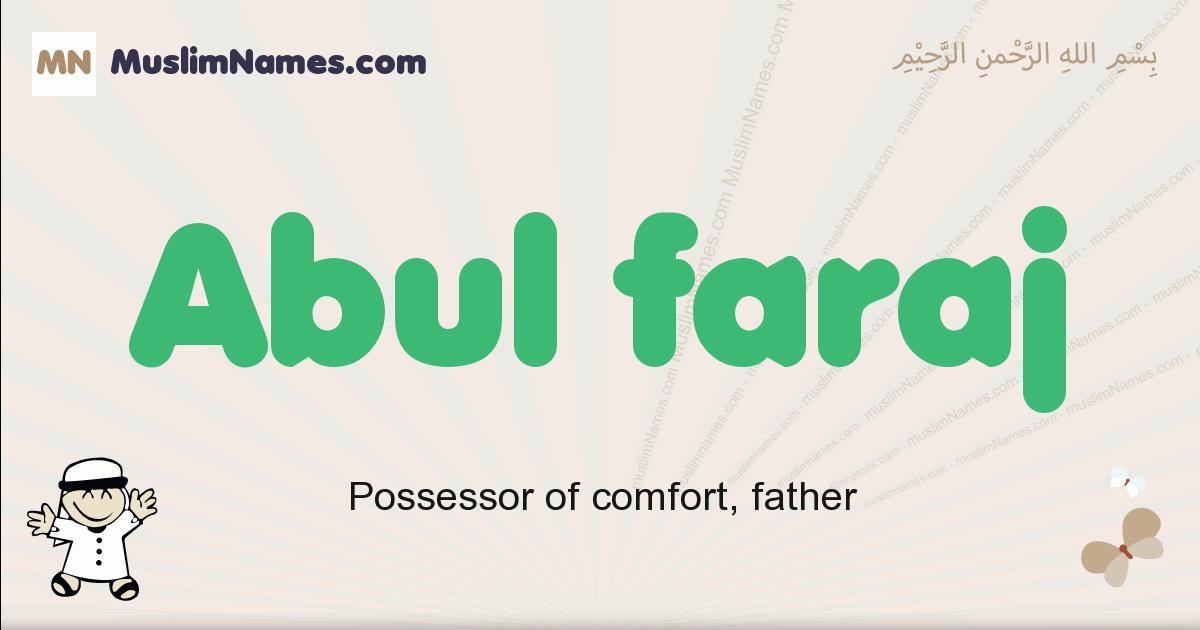 abul_faraj muslim boys name and meaning, islamic boys name abul_faraj