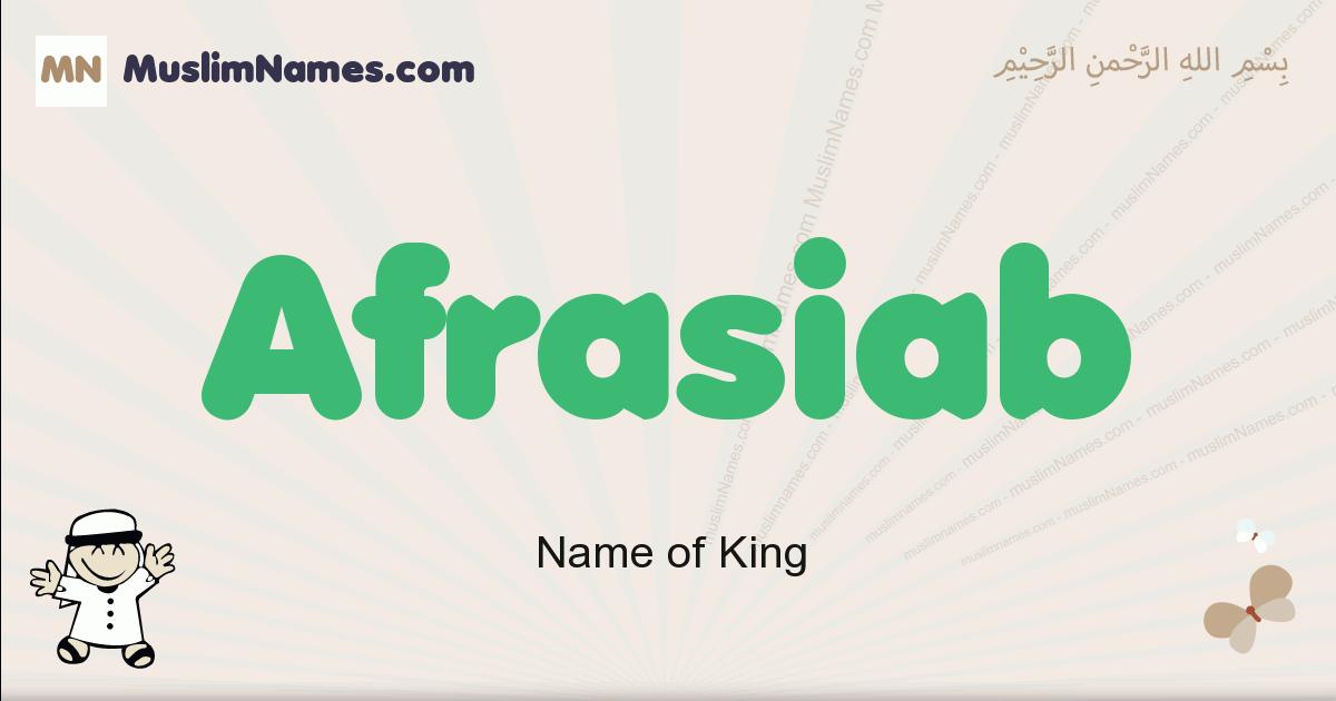 afrasiab muslim boys name and meaning, islamic boys name afrasiab