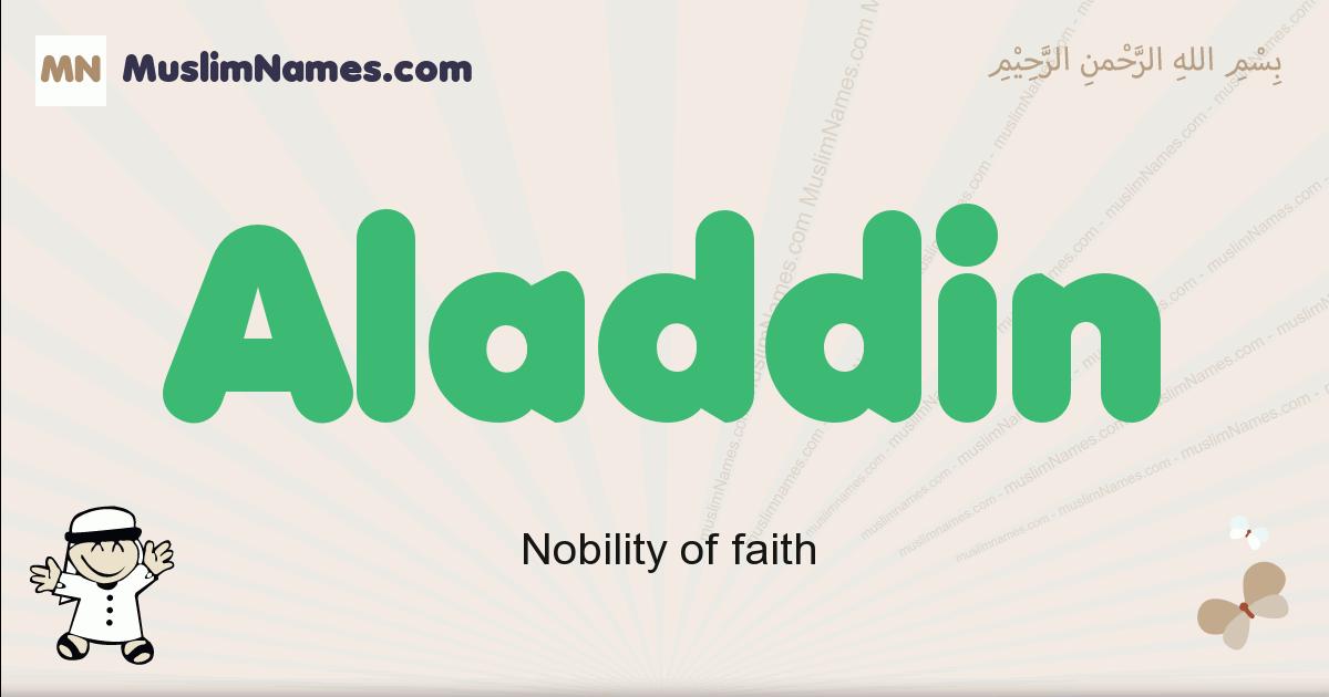 Aladdin muslim boys name and meaning, islamic boys name Aladdin