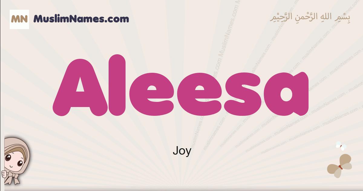 Aleesa muslim girls name and meaning, islamic girls name Aleesa