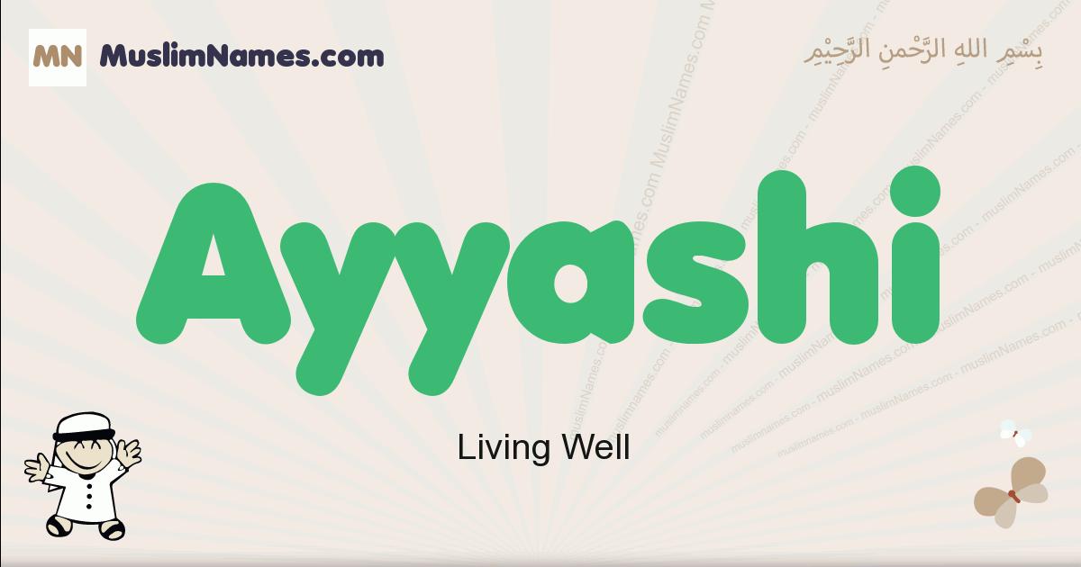 Ayyashi muslim boys name and meaning, islamic boys name Ayyashi