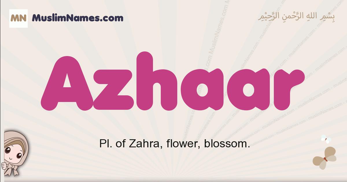 Azhaar muslim boys name and meaning, islamic boys name Azhaar