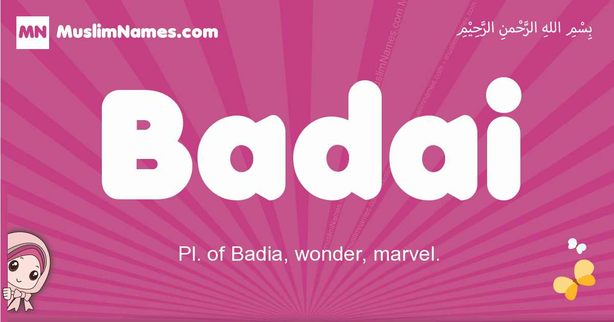 badai arabic girls name and meaning, muslim girl name badai