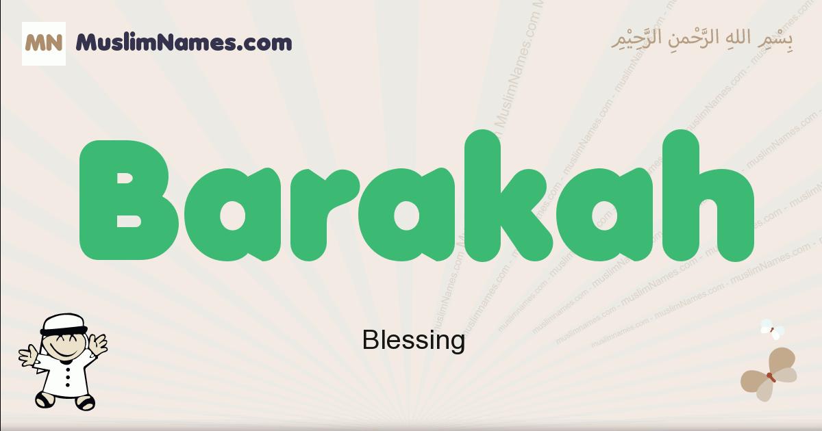 Barakah muslim boys name and meaning, islamic boys name Barakah