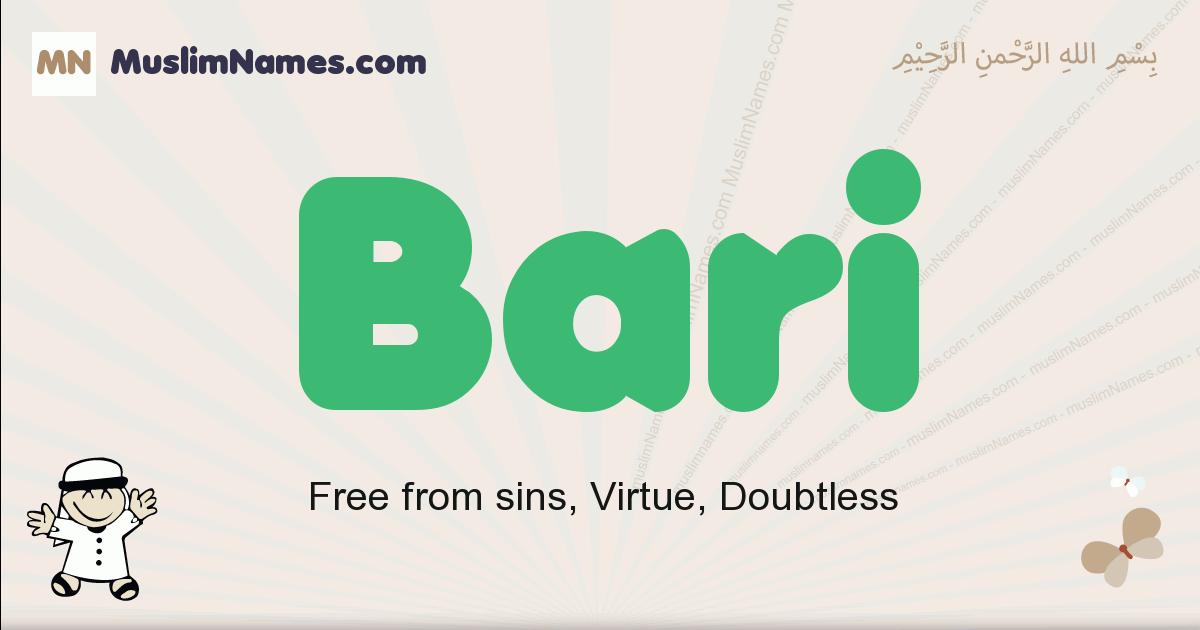 Bari muslim boys name and meaning, islamic boys name Bari