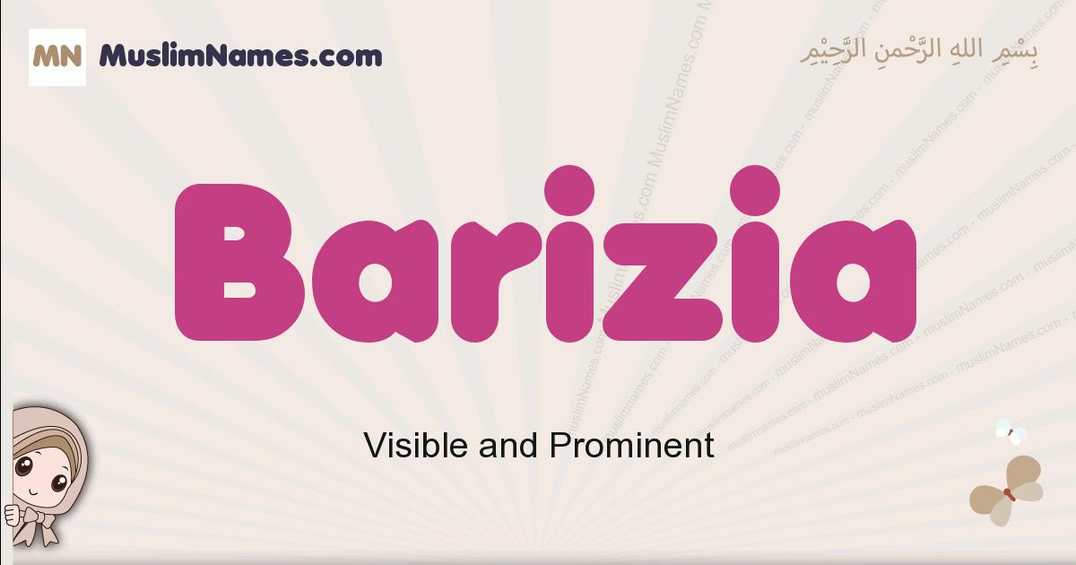 Barizia muslim girls name and meaning, islamic girls name Barizia