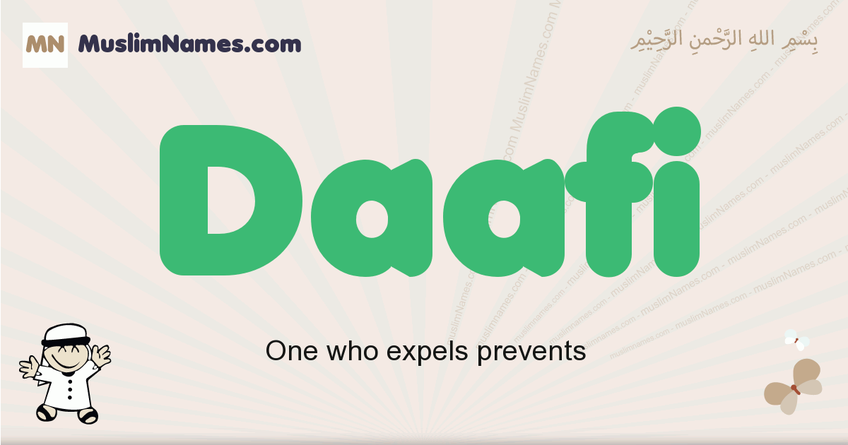 Daafi muslim boys name and meaning, islamic boys name Daafi