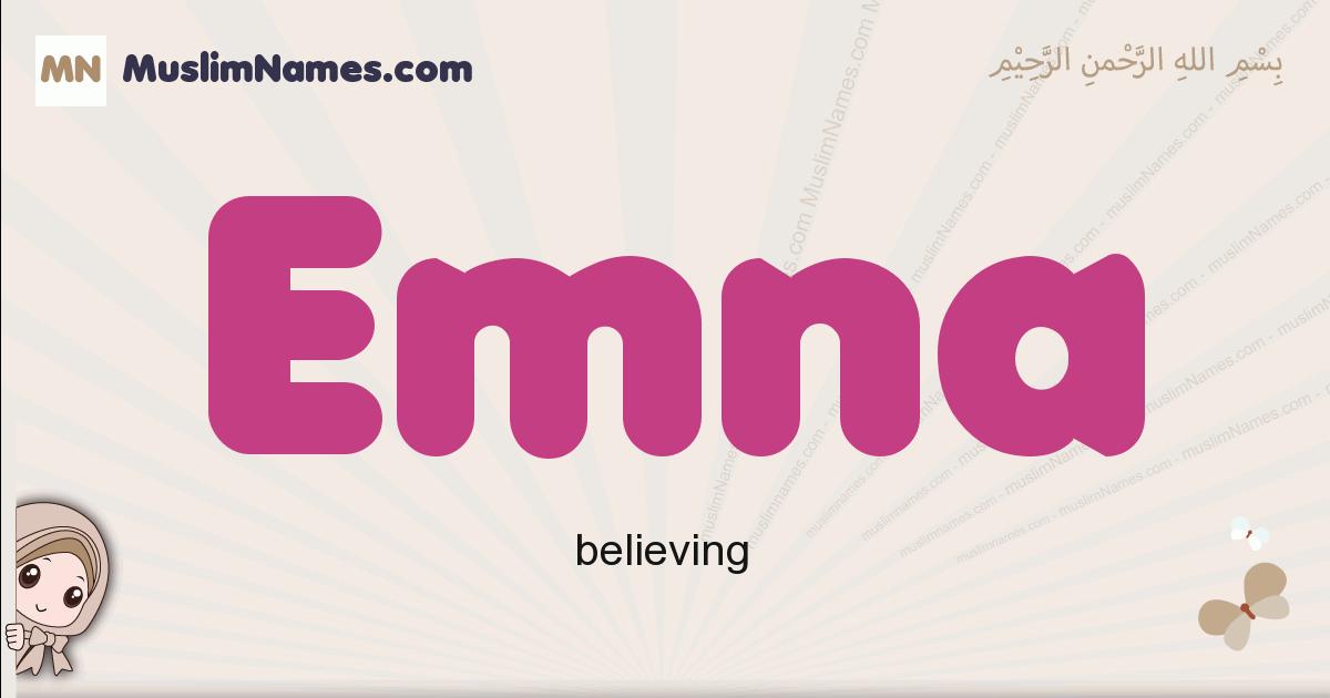 Emna muslim girls name and meaning, islamic girls name Emna