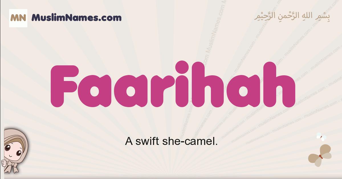 Faarihah muslim girls name and meaning, islamic girls name Faarihah