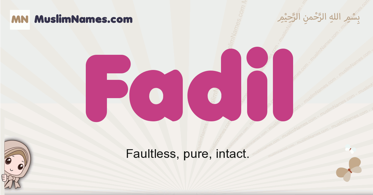 fadil muslim girls name and meaning, islamic girls name fadil