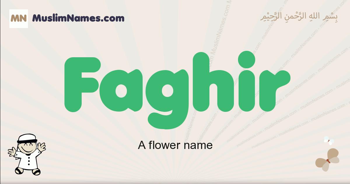 Faghir muslim boys name and meaning, islamic boys name Faghir