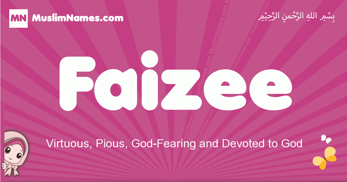 faizee arabic girls name and meaning, quranic girls name faizee