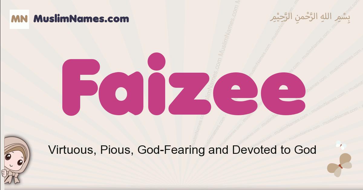 faizee muslim girls name and meaning, islamic girls name faizee