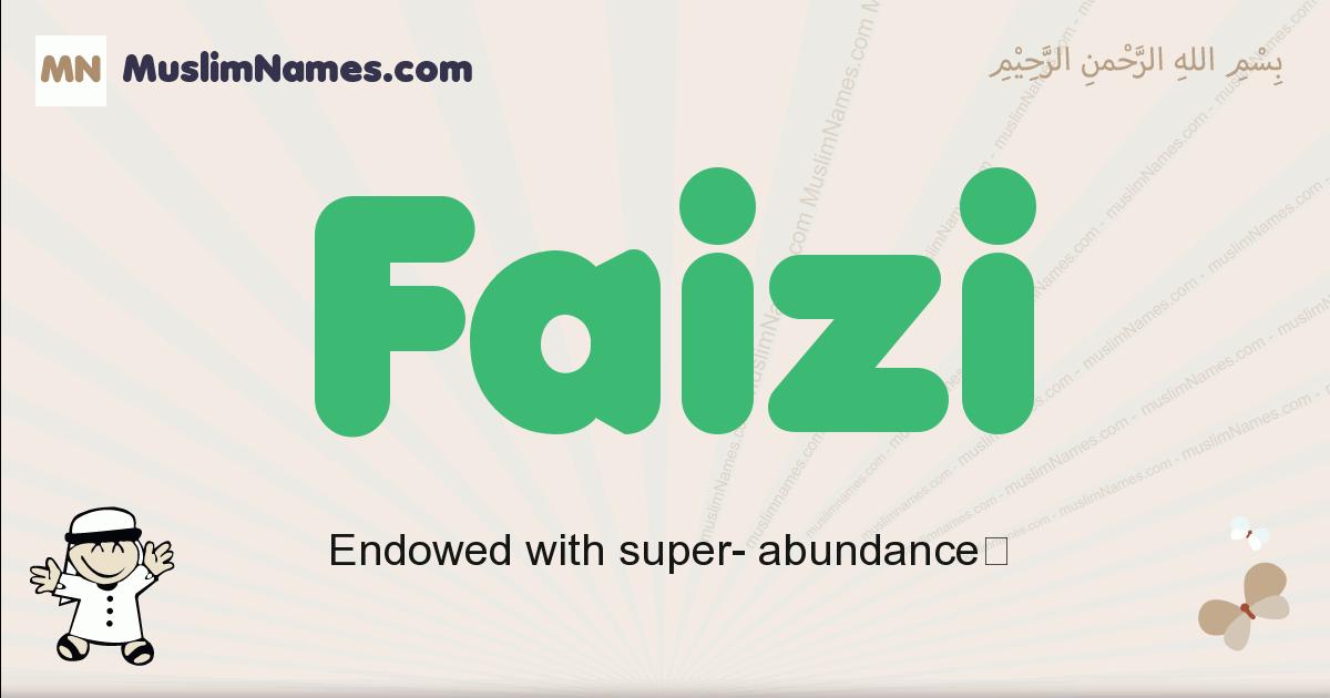 faizi muslim boys name and meaning, islamic boys name faizi