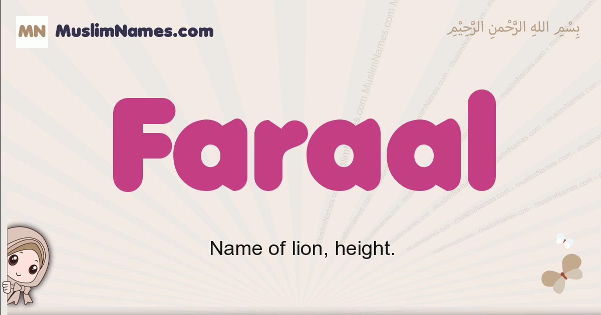 Faraal muslim girls name and meaning, islamic girls name Faraal