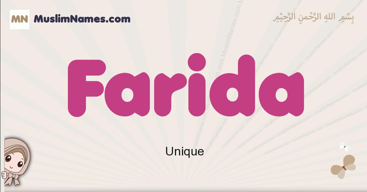 Farida muslim boys name and meaning, islamic boys name Farida