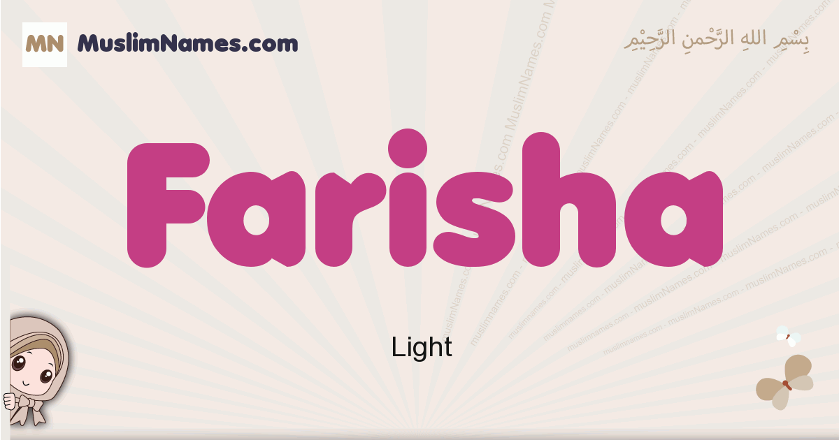 Farisha muslim girls name and meaning, islamic girls name Farisha