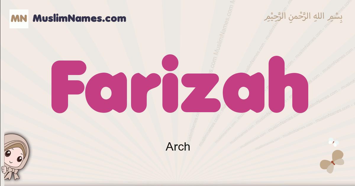 Farizah muslim girls name and meaning, islamic girls name Farizah