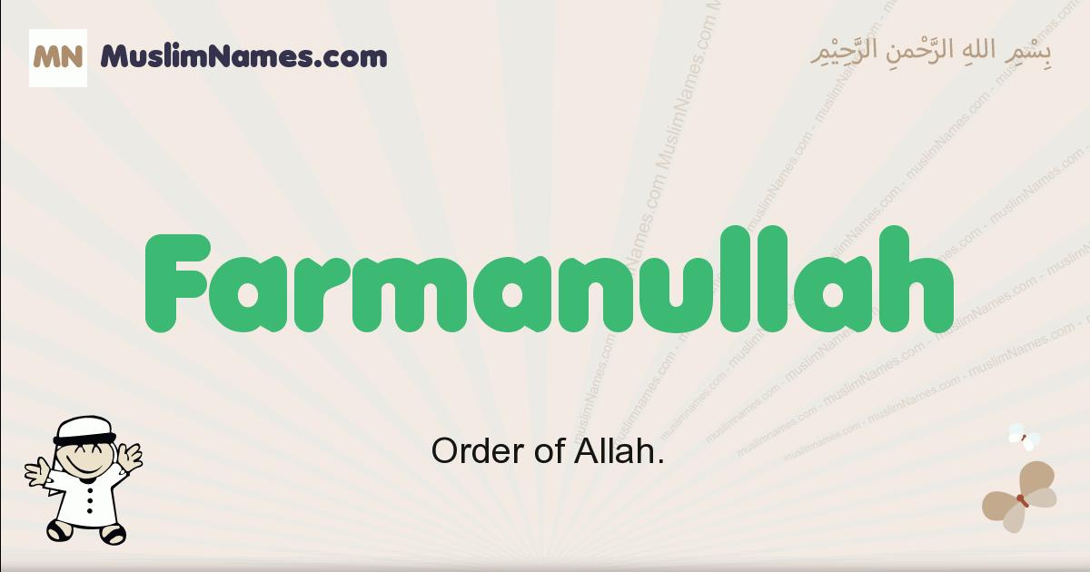 Farmanullah muslim boys name and meaning, islamic boys name Farmanullah