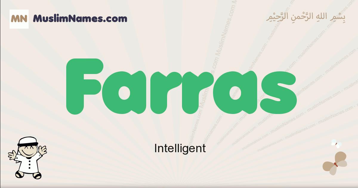 farras muslim boys name and meaning, islamic boys name farras