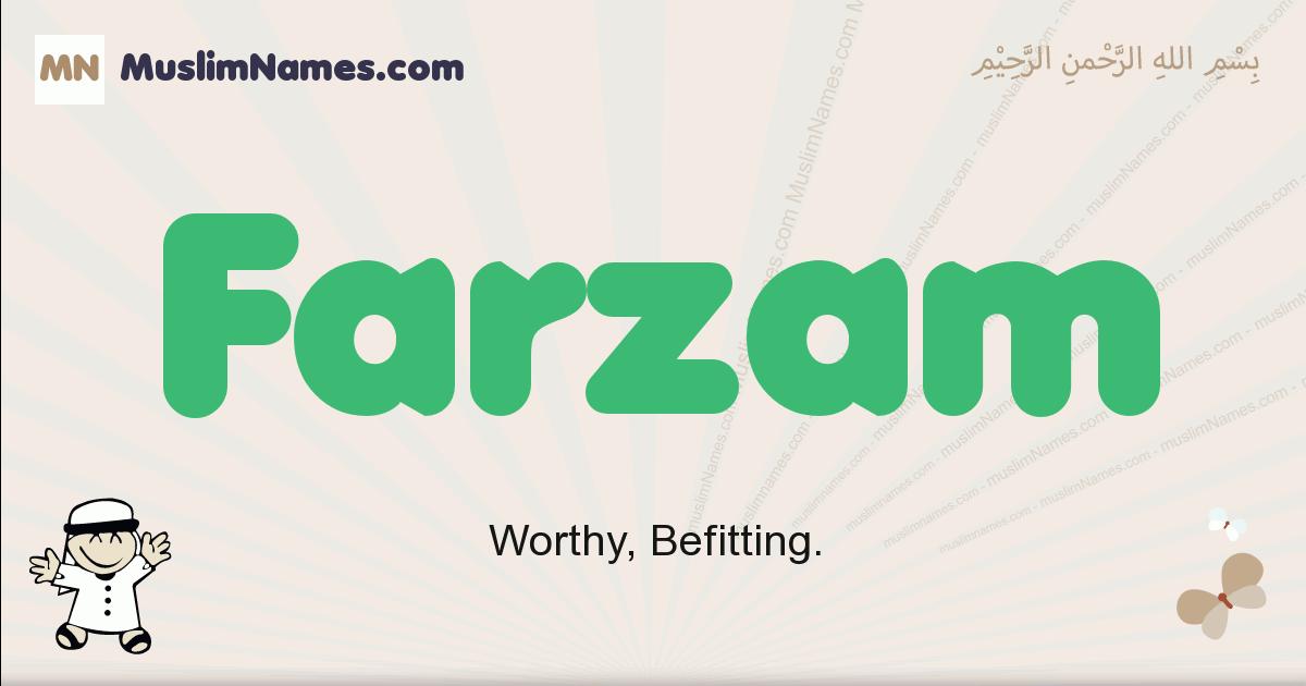 farzam muslim boys name and meaning, islamic boys name farzam