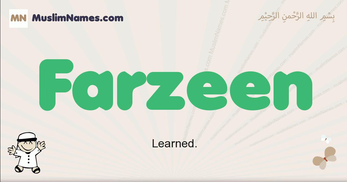 Farzeen muslim boys name and meaning, islamic boys name Farzeen