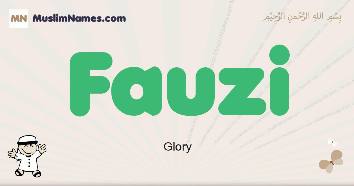 Fauzi muslim boys name and meaning, islamic boys name Fauzi