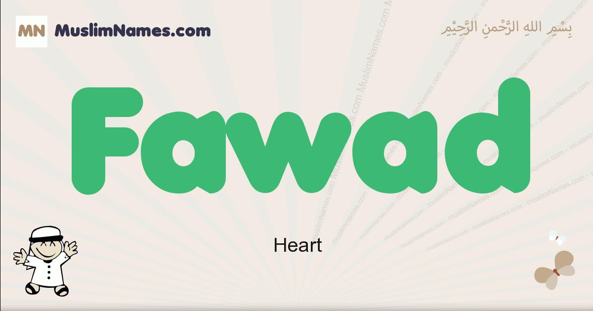 Fawad muslim boys name and meaning, islamic boys name Fawad