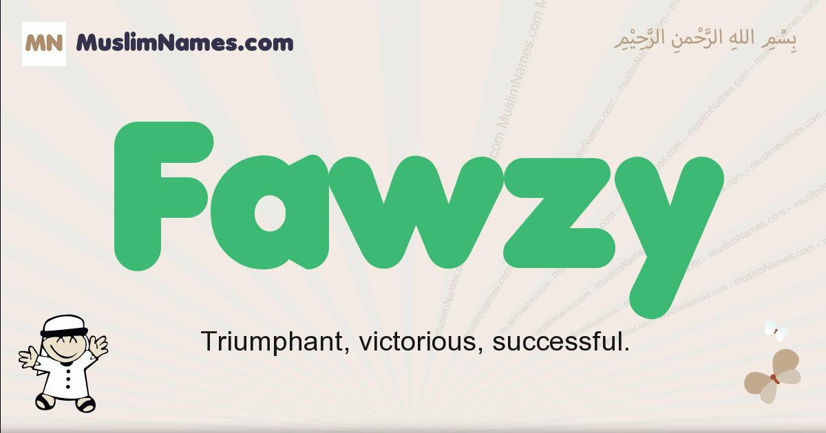 Fawzy muslim boys name and meaning, islamic boys name Fawzy