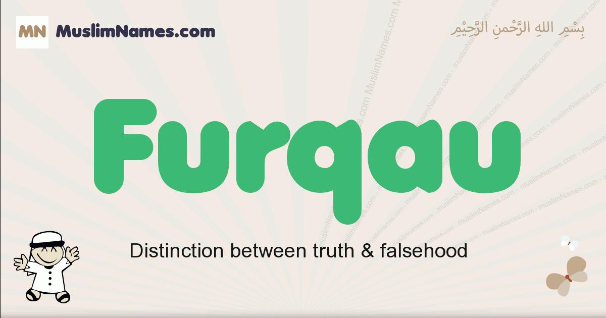 Furqau muslim boys name and meaning, islamic boys name Furqau