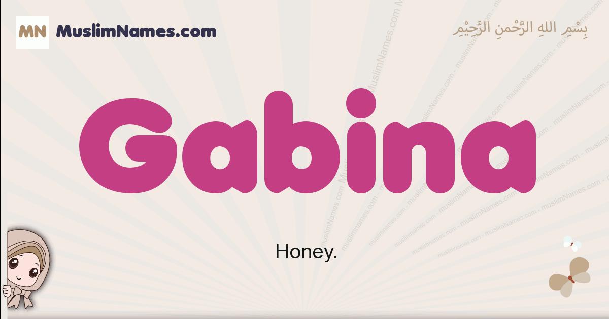 Gabina muslim girls name and meaning, islamic girls name Gabina