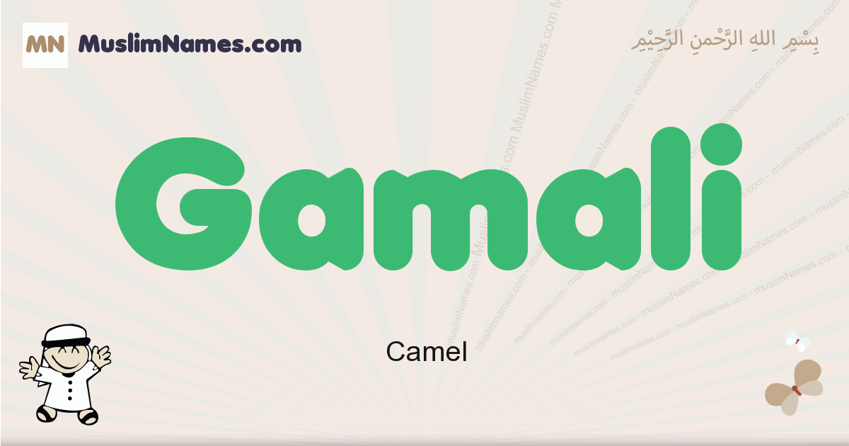 Gamali muslim boys name and meaning, islamic boys name Gamali