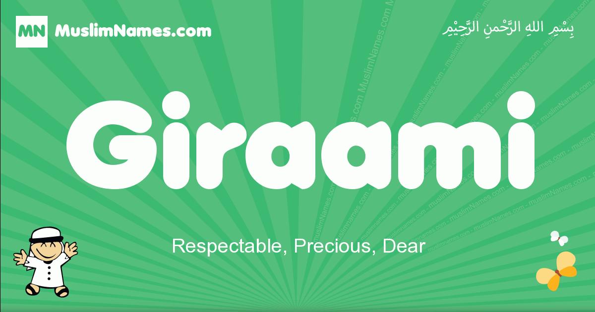 giraami arabic boys name and meaning, quranic boys name giraami