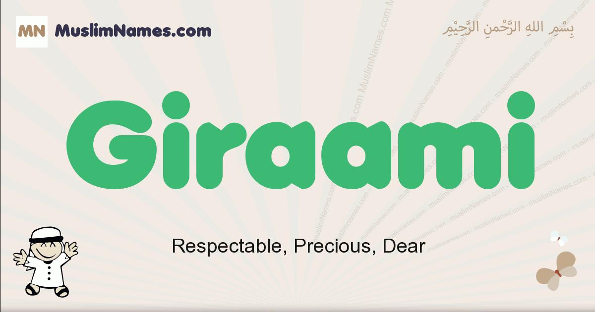 giraami muslim boys name and meaning, islamic boys name giraami
