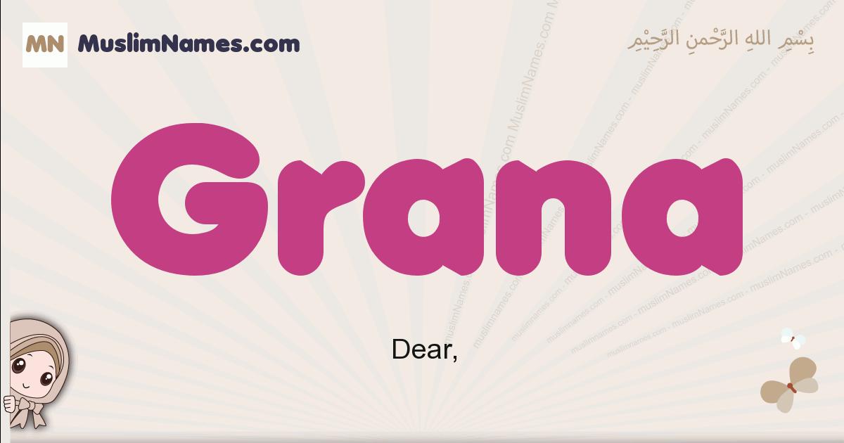 Grana muslim girls name and meaning, islamic girls name Grana