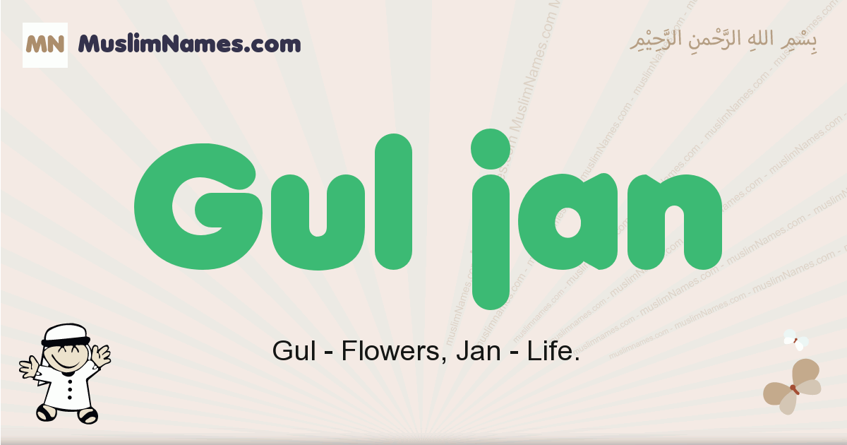 Gul Jan muslim boys name and meaning, islamic boys name Gul Jan