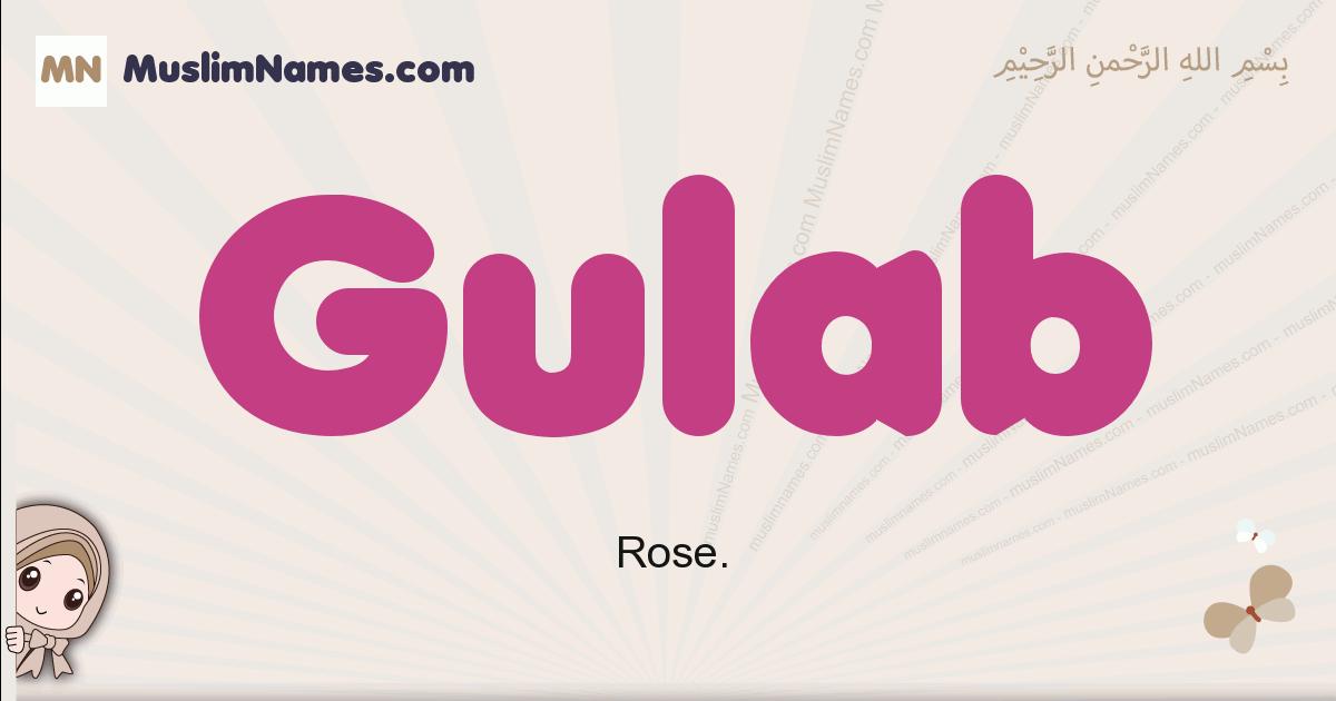 Gulab muslim boys name and meaning, islamic boys name Gulab