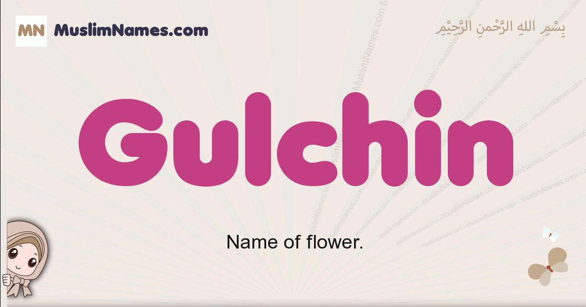 Gulchin muslim girls name and meaning, islamic girls name Gulchin