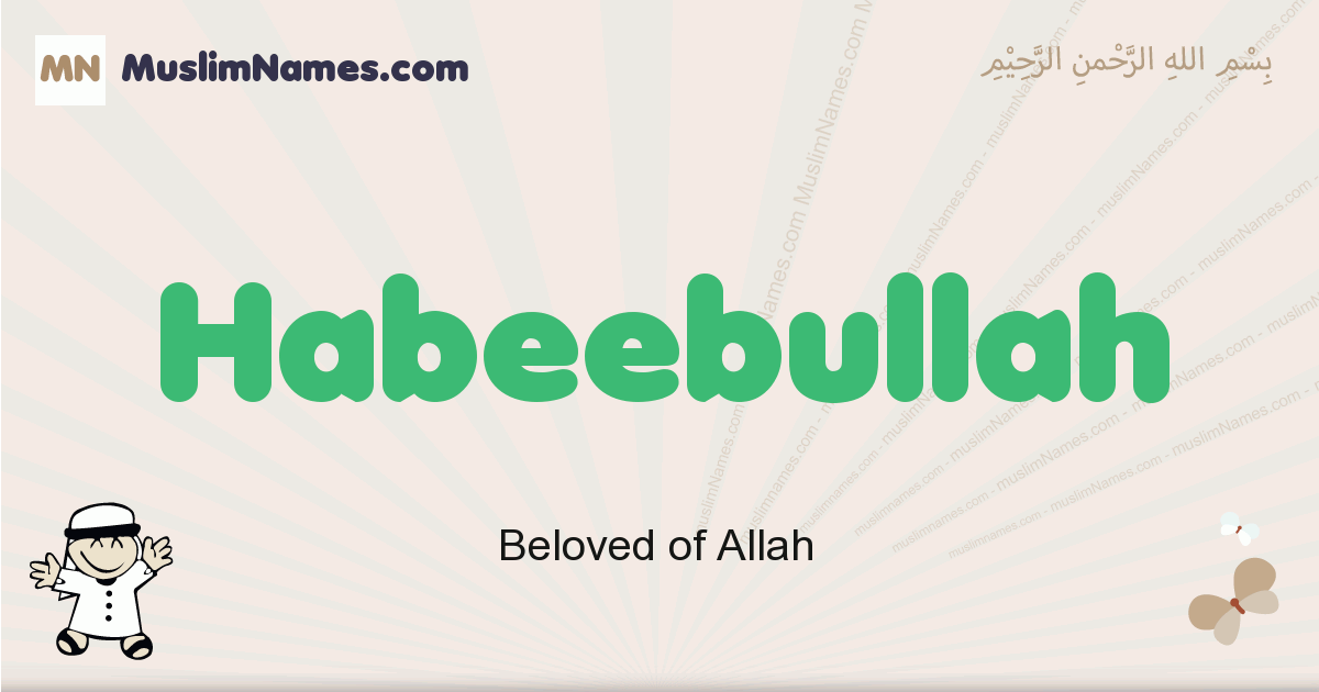 Habeebullah muslim boys name and meaning, islamic boys name Habeebullah