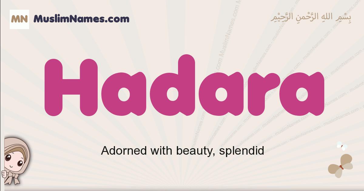 Hadara muslim girls name and meaning, islamic girls name Hadara