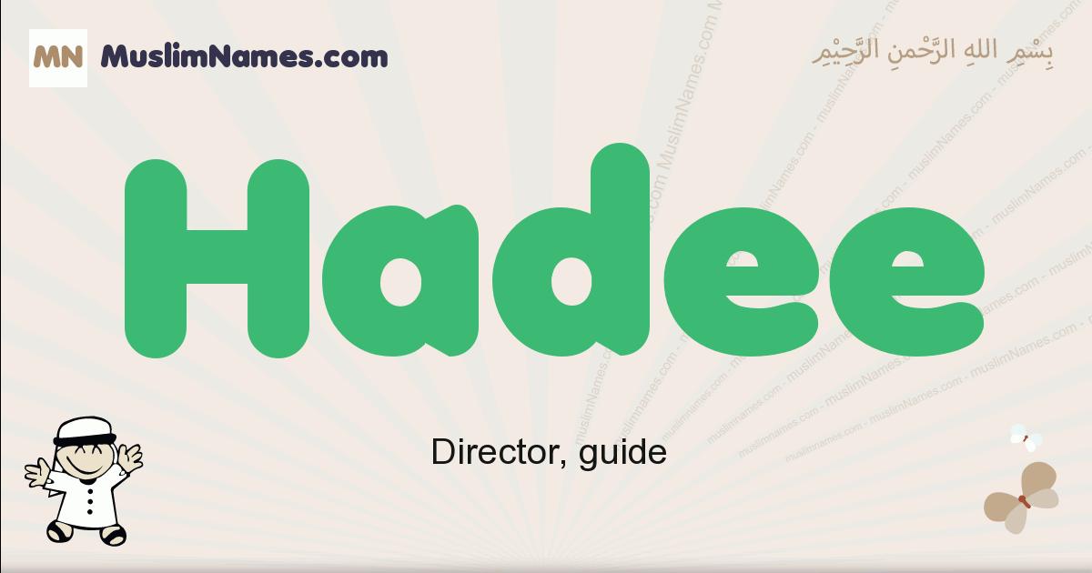 Hadee muslim boys name and meaning, islamic boys name Hadee