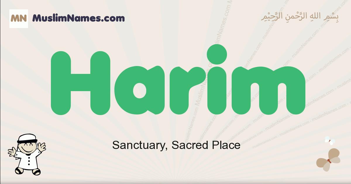 Harim muslim boys name and meaning, islamic boys name Harim