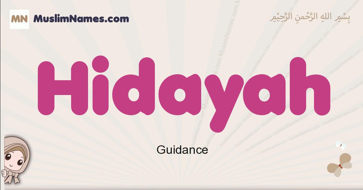 Hidayah muslim girls name and meaning, islamic girls name Hidayah