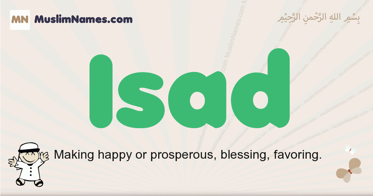 Isad muslim boys name and meaning, islamic boys name Isad