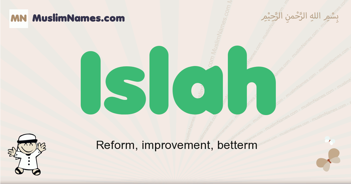 Islah muslim boys name and meaning, islamic boys name Islah